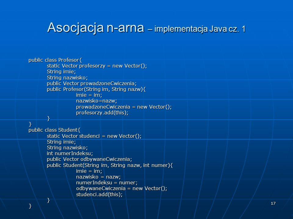 Asocjacja n-arna – implementacja Java cz. 1