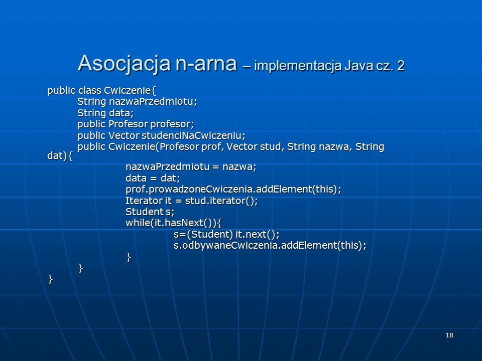 Asocjacja n-arna – implementacja Java cz. 2