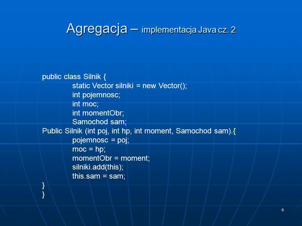 Agregacja – implementacja Java cz. 2