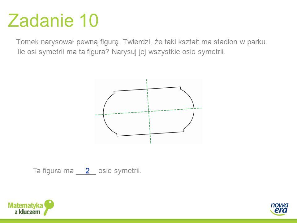 Zadanie 10 Tomek narysował pewną figurę. Twierdzi, że taki kształt ma stadion w parku.