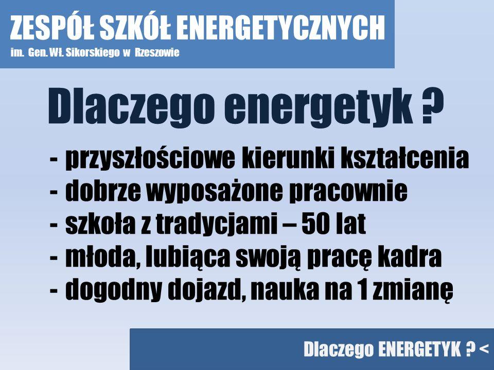 Dlaczego energetyk ZESPÓŁ SZKÓŁ ENERGETYCZNYCH
