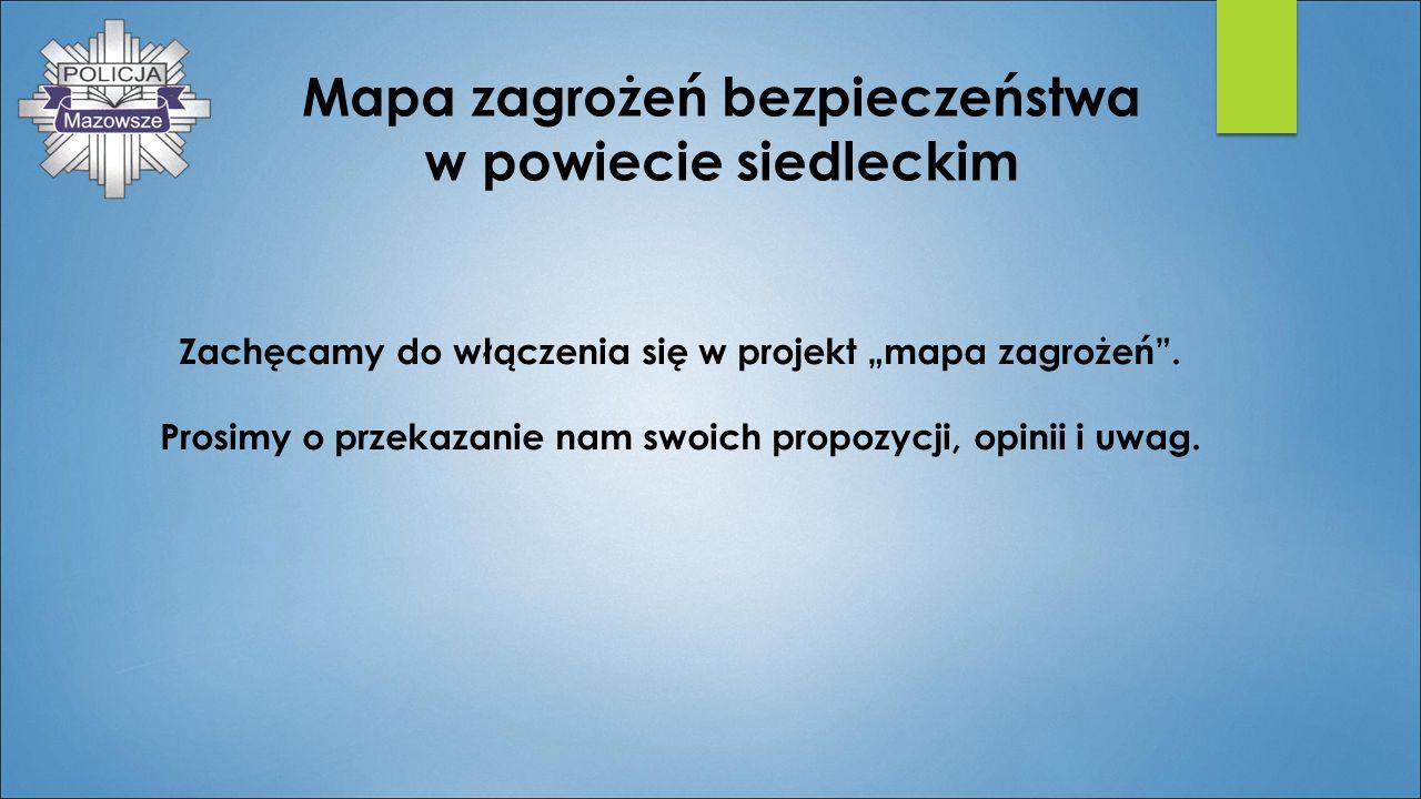 Mapa zagrożeń bezpieczeństwa w powiecie siedleckim