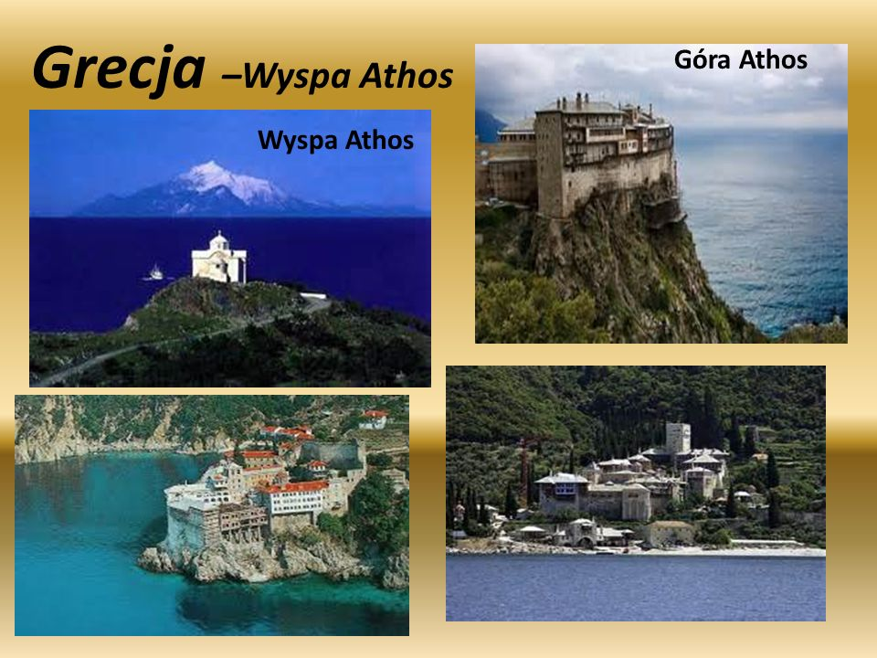 Grecja –Wyspa Athos Góra Athos Wyspa Athos