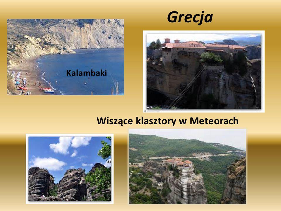 Grecja Kalambaki Wiszące klasztory w Meteorach