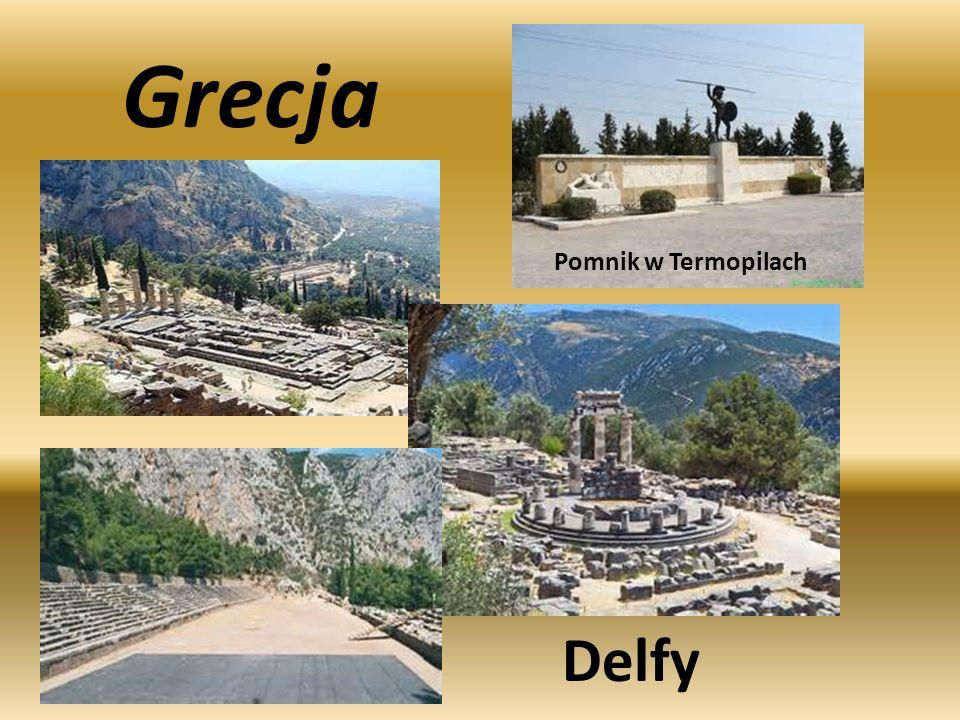 Grecja Pomnik w Termopilach Delfy