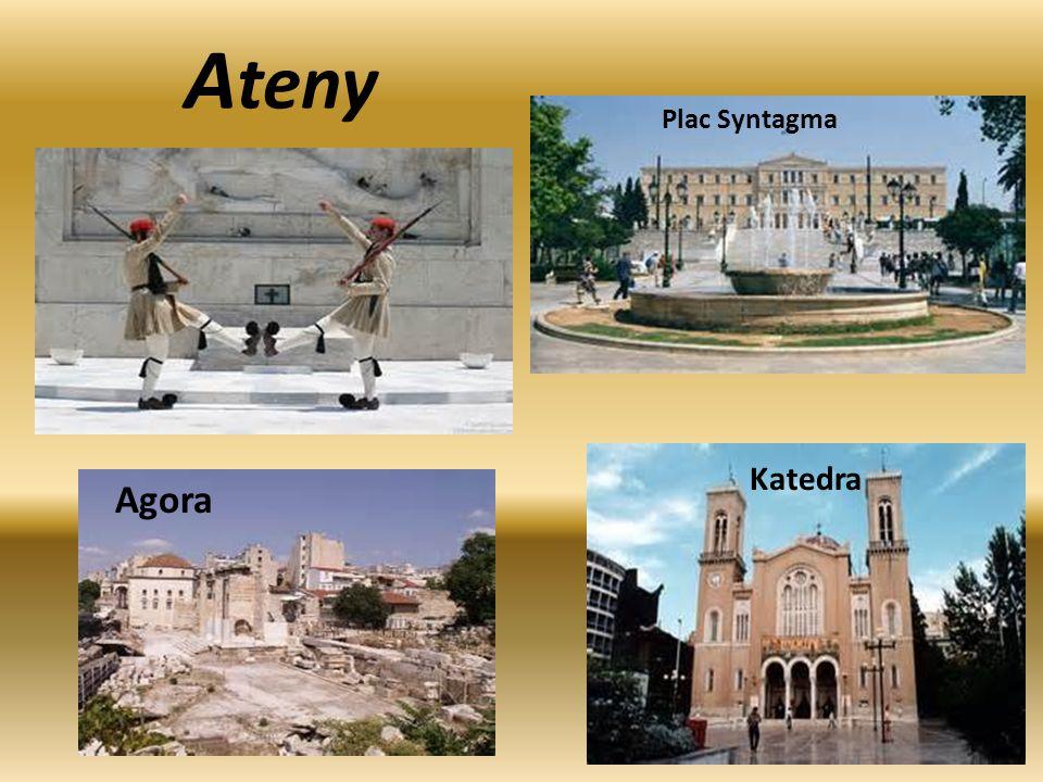 Ateny Plac Syntagma Katedra Agora