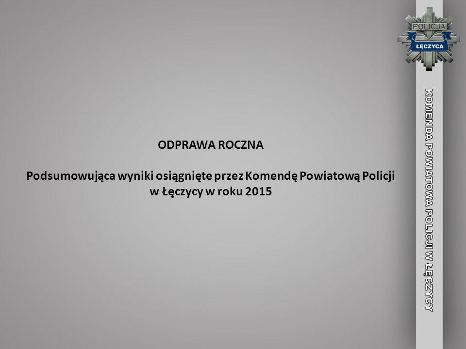 ODPRAWA ROCZNA Podsumowująca wyniki osiągnięte przez Komendę Powiatową Policji w Łęczycy w roku 2015.