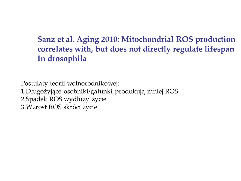 Sanz et al. Aging 2010: Mitochondrial ROS production
