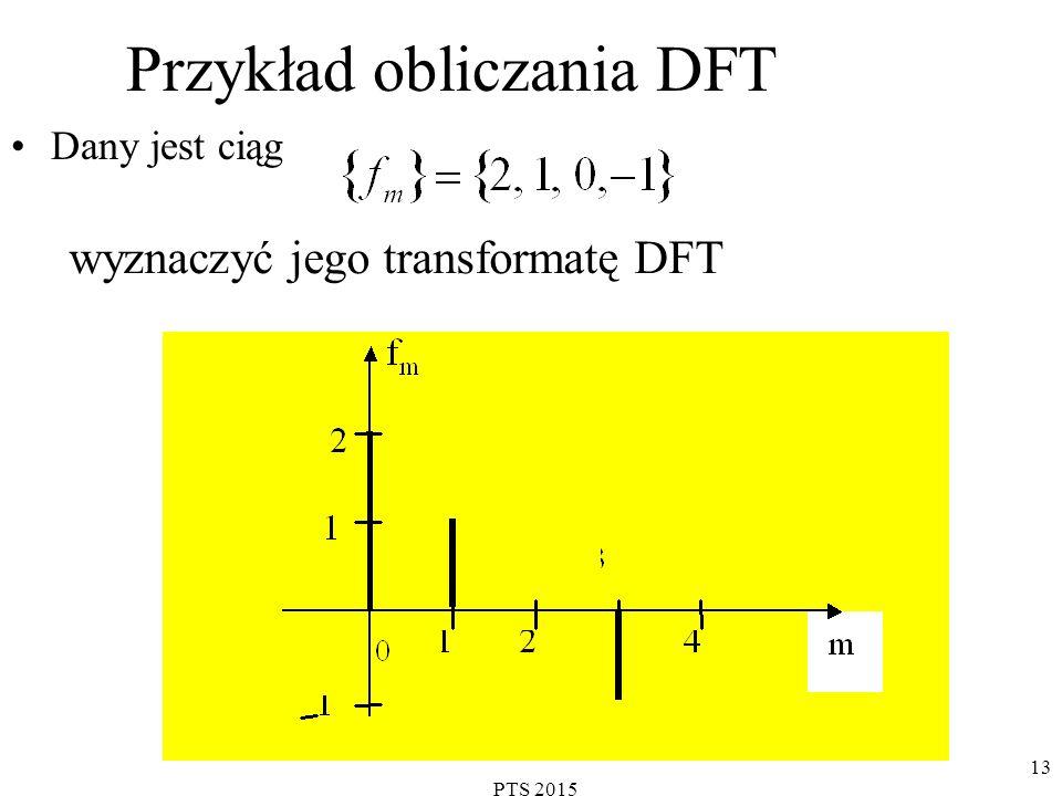 Przykład obliczania DFT