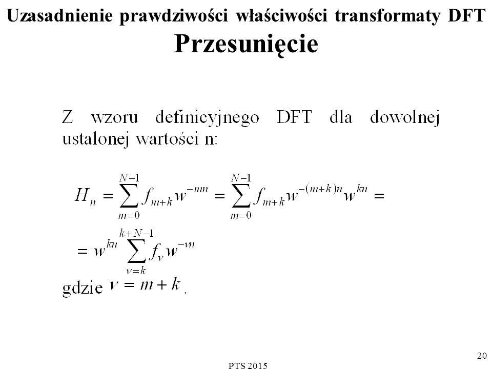 Uzasadnienie prawdziwości właściwości transformaty DFT Przesunięcie