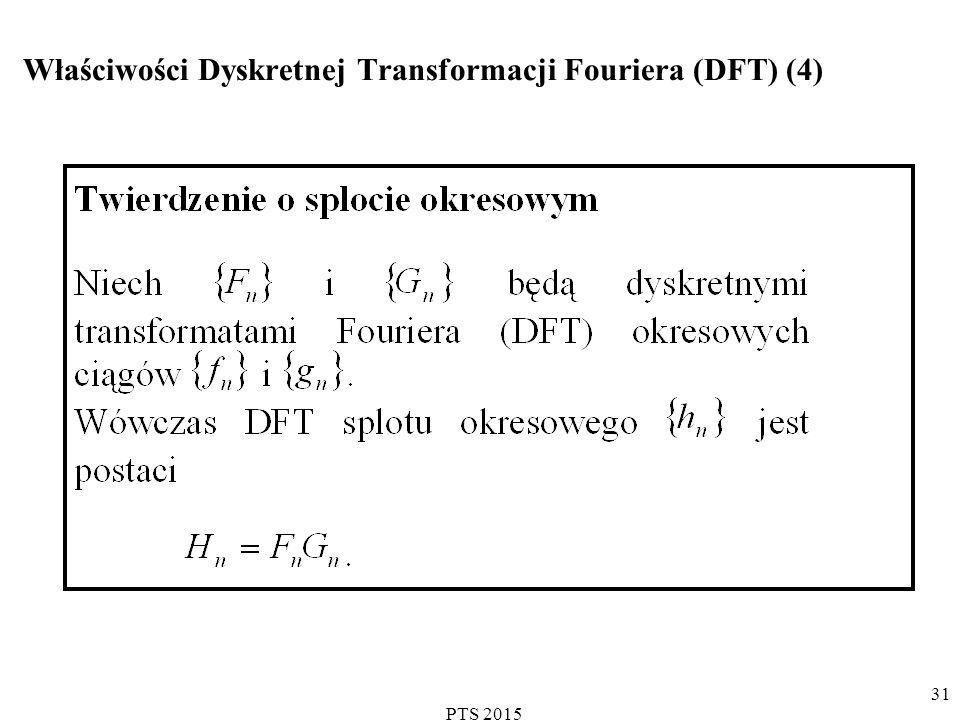 Właściwości Dyskretnej Transformacji Fouriera (DFT) (4)