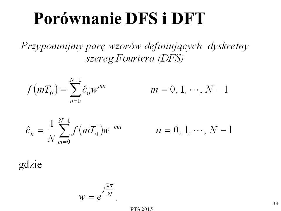 Porównanie DFS i DFT PTS 2015