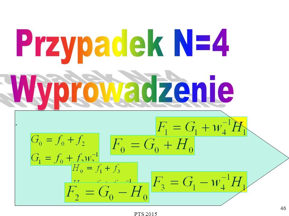 Przypadek N=4 Wyprowadzenie . PTS 2015