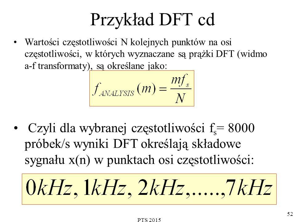 Przykład DFT cd
