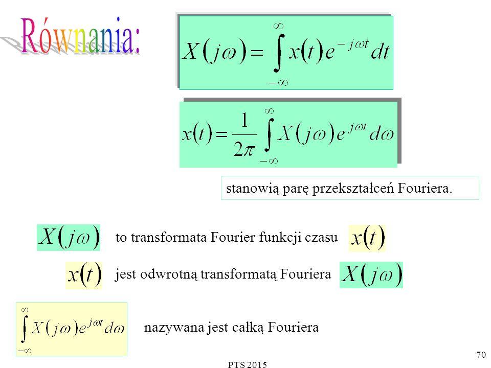 stanowią parę przekształceń Fouriera.