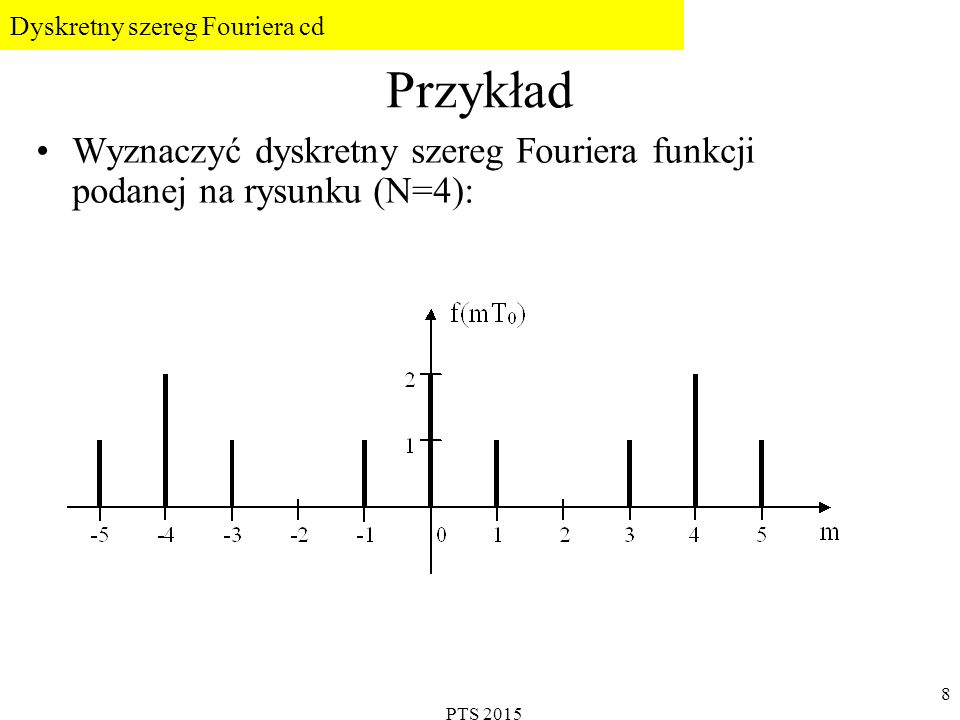 Dyskretny szereg Fouriera cd