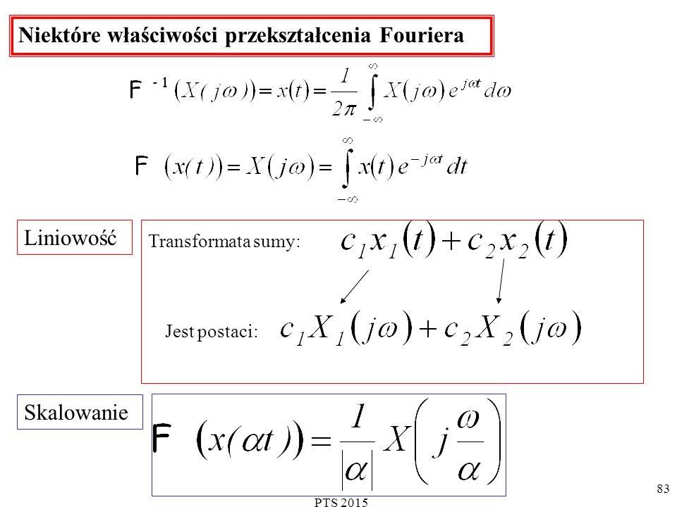 Niektóre właściwości przekształcenia Fouriera