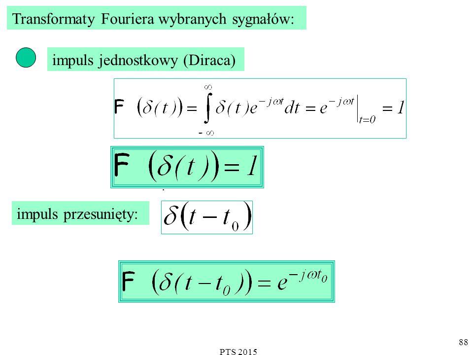 Transformaty Fouriera wybranych sygnałów: