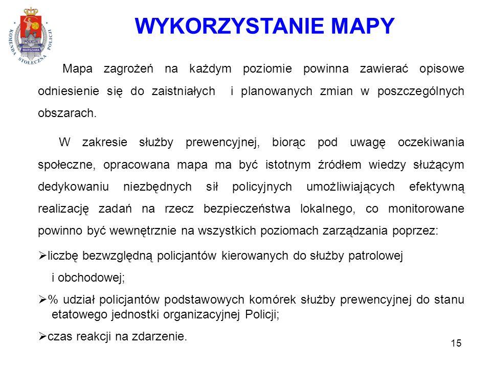 WYKORZYSTANIE MAPY