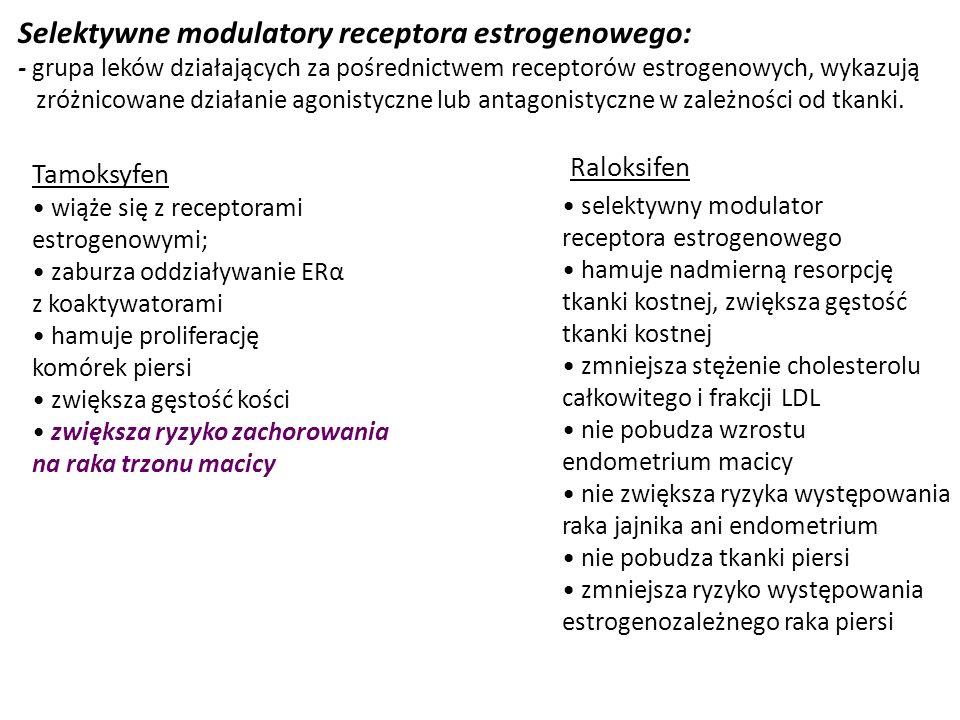 Selektywne modulatory receptora estrogenowego: