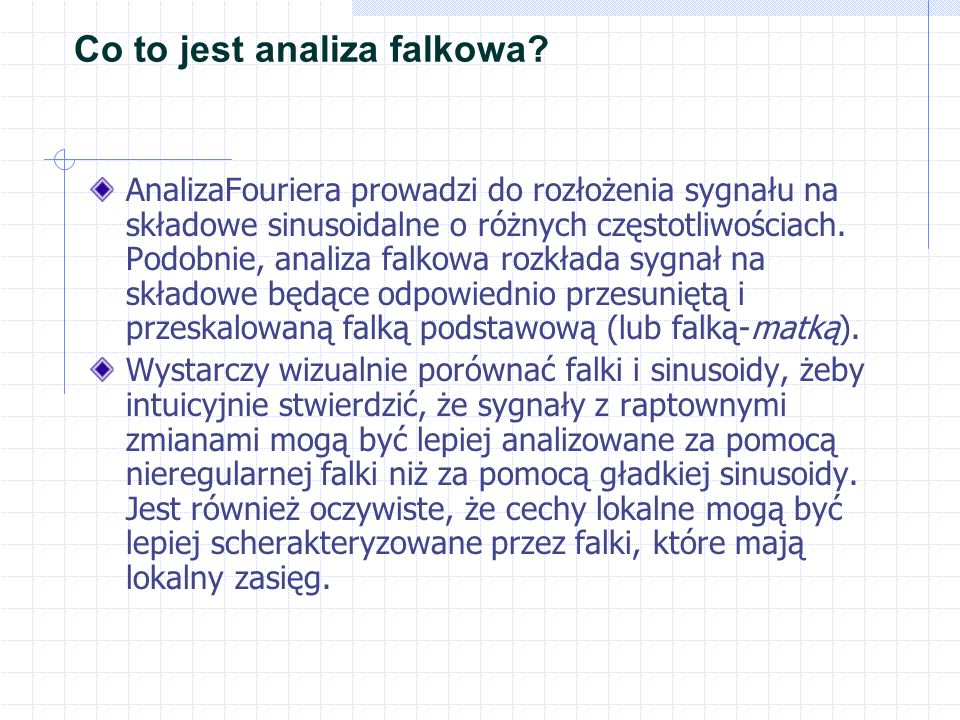 Co to jest analiza falkowa