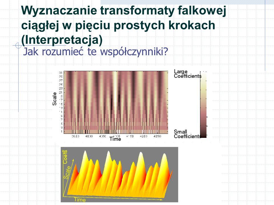 Wyznaczanie transformaty falkowej ciągłej w pięciu prostych krokach (Interpretacja)