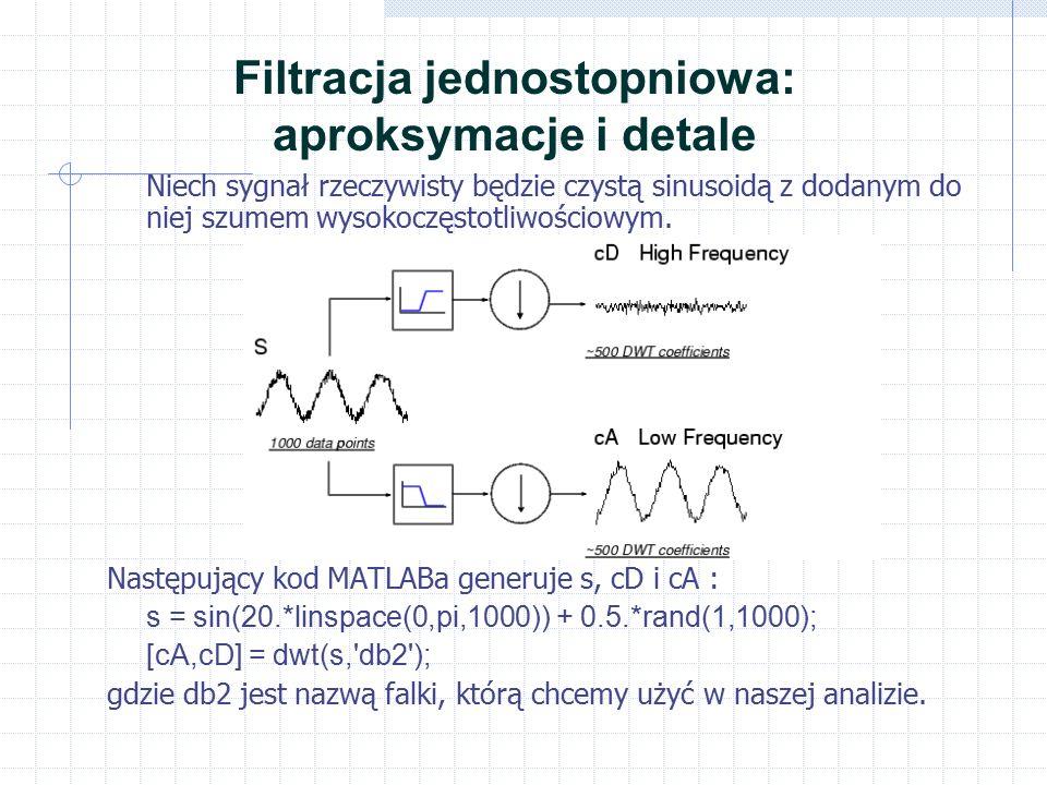 Filtracja jednostopniowa: aproksymacje i detale