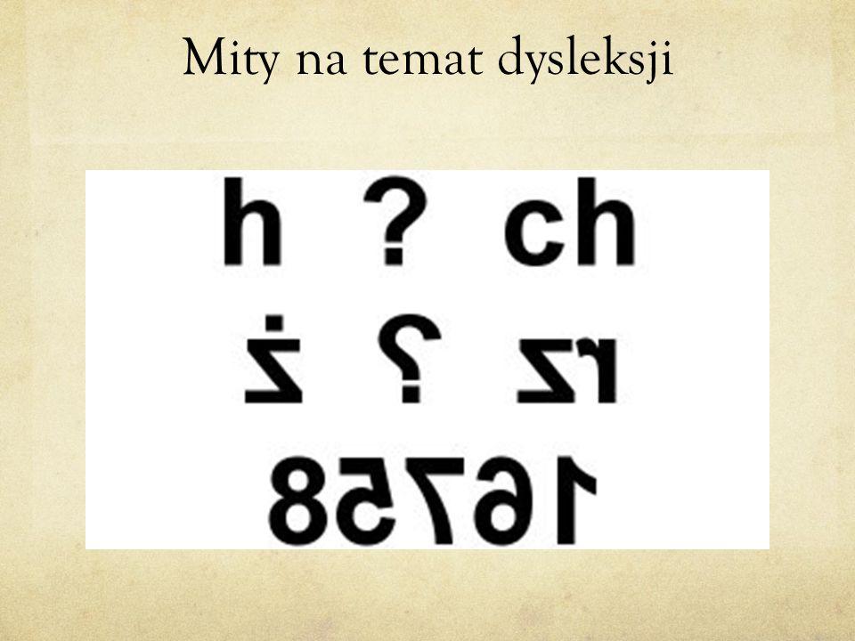 Mity na temat dysleksji