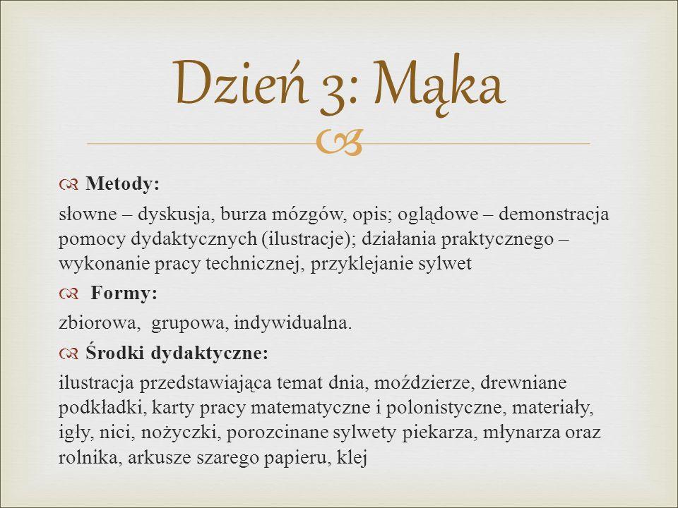 Dzień 3: Mąka Metody: