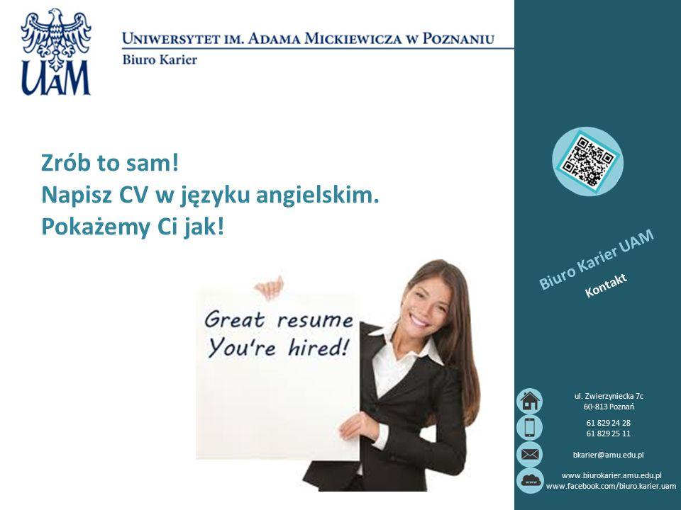 Zrób to sam! Napisz CV w języku angielskim. Pokażemy Ci jak!