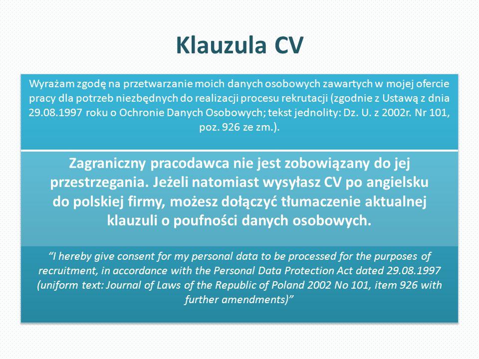 Klauzula CV