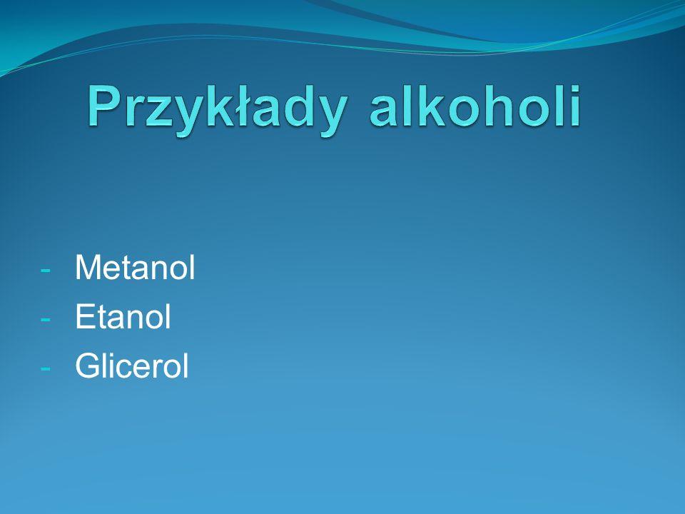 Metanol Etanol Glicerol