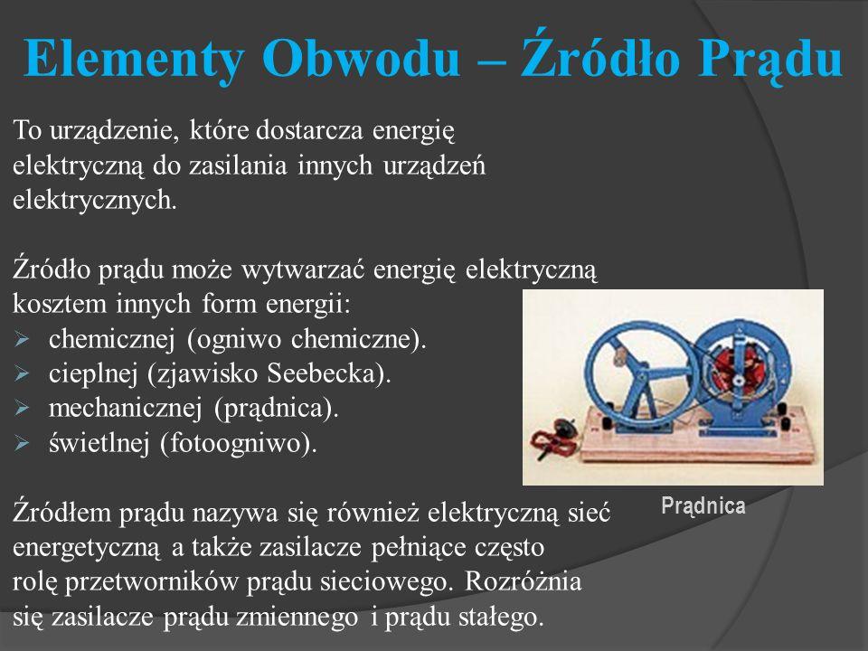 Elementy Obwodu – Źródło Prądu