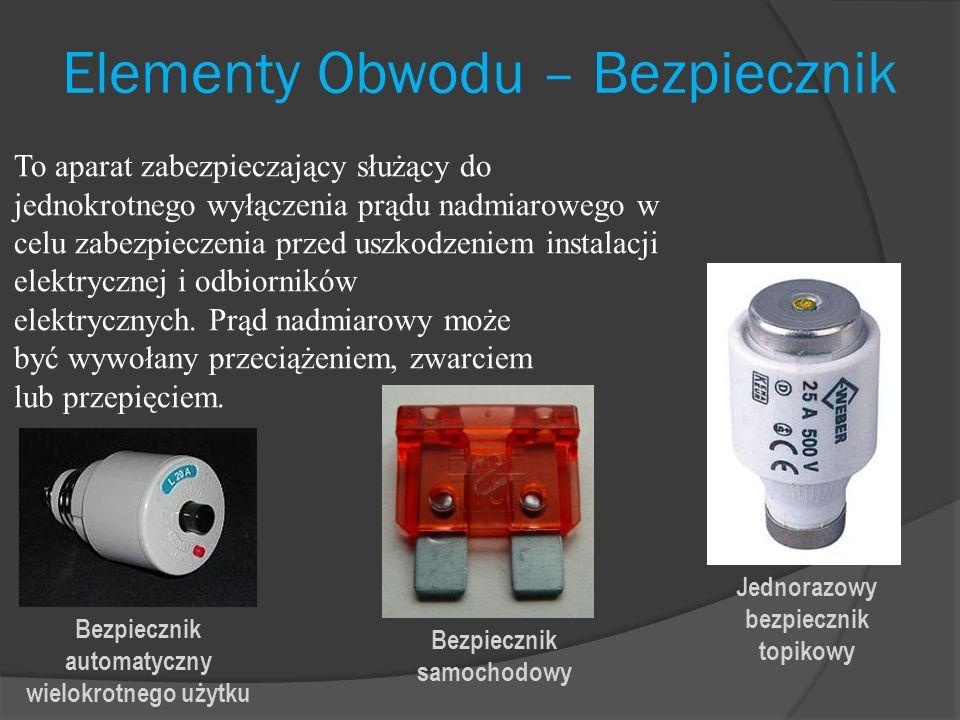 Elementy Obwodu – Bezpiecznik