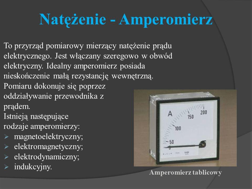 Natężenie - Amperomierz