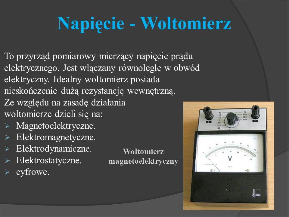 Woltomierz magnetoelektryczny