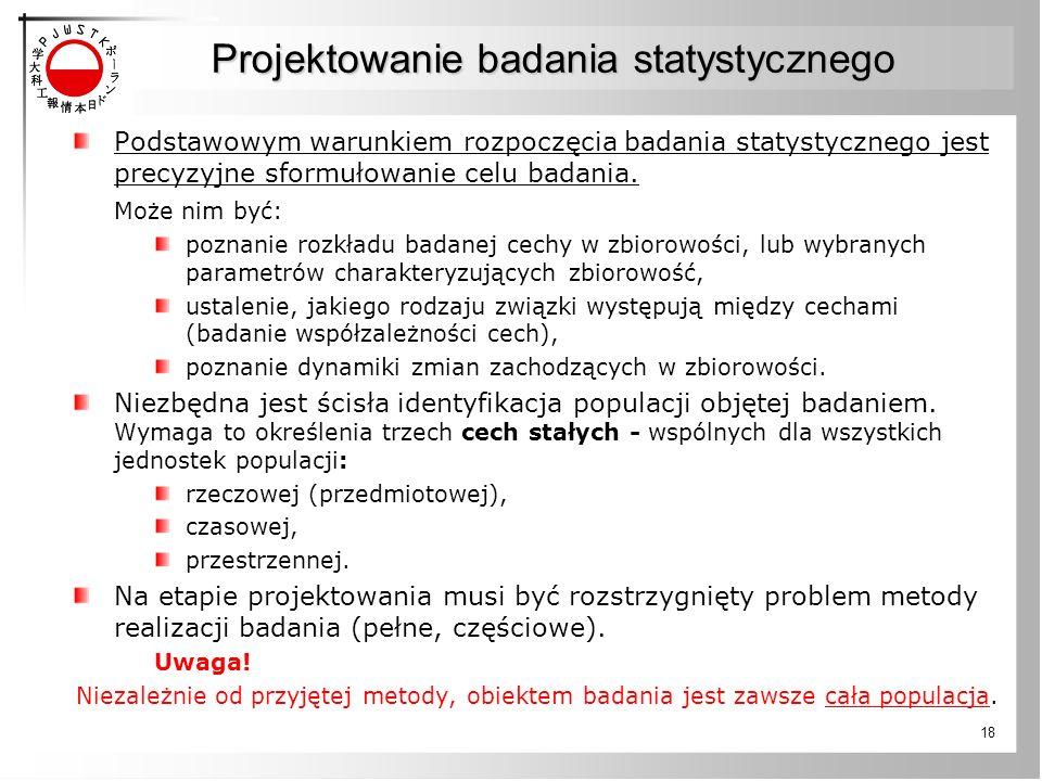 Projektowanie badania statystycznego