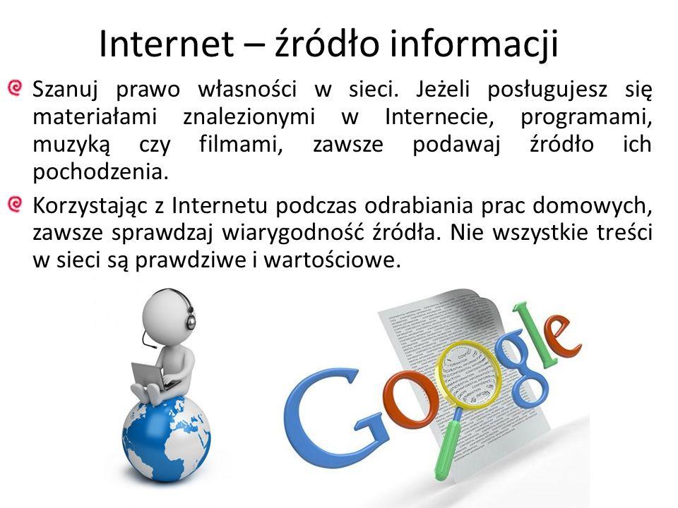 Internet – źródło informacji