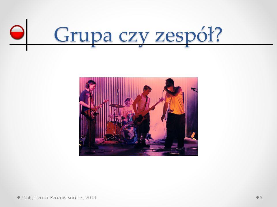 Grupa czy zespół Małgorzata Rzeźnik-Knotek, 2013