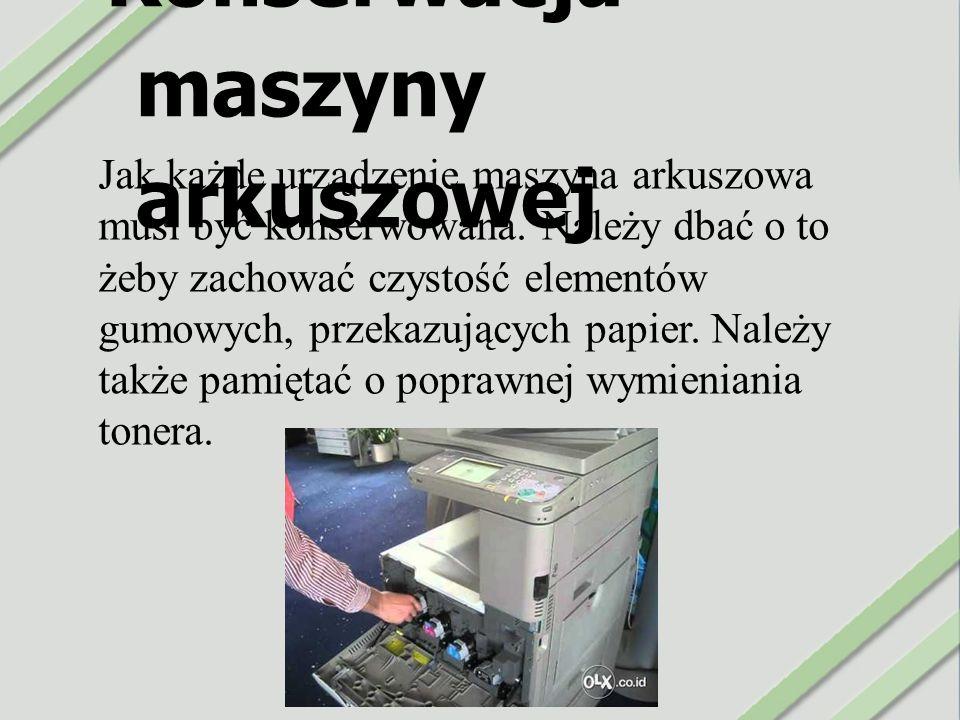 Konserwacja maszyny arkuszowej