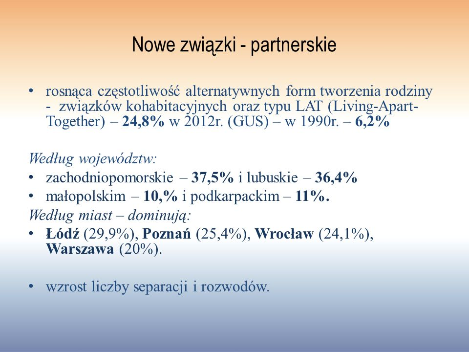 Nowe związki - partnerskie