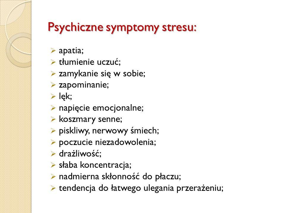 Psychiczne symptomy stresu: