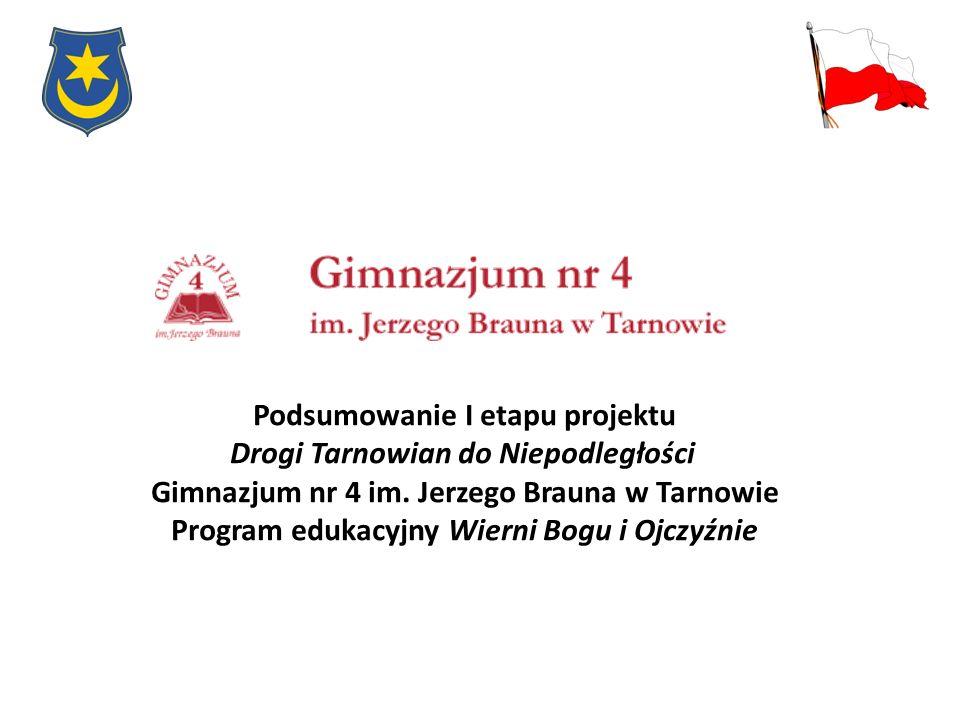 Podsumowanie I etapu projektu Drogi Tarnowian do Niepodległości
