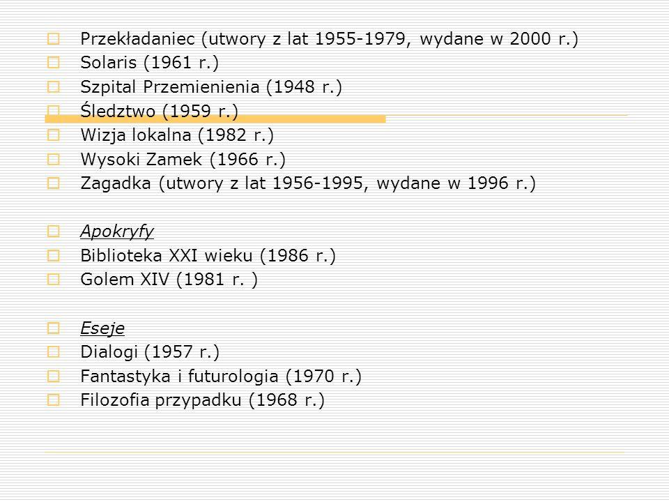 Przekładaniec (utwory z lat 1955-1979, wydane w 2000 r.)