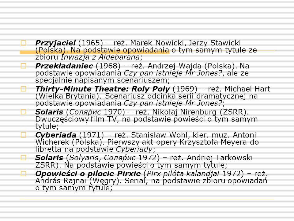 Przyjaciel (1965) – reż. Marek Nowicki, Jerzy Stawicki (Polska)