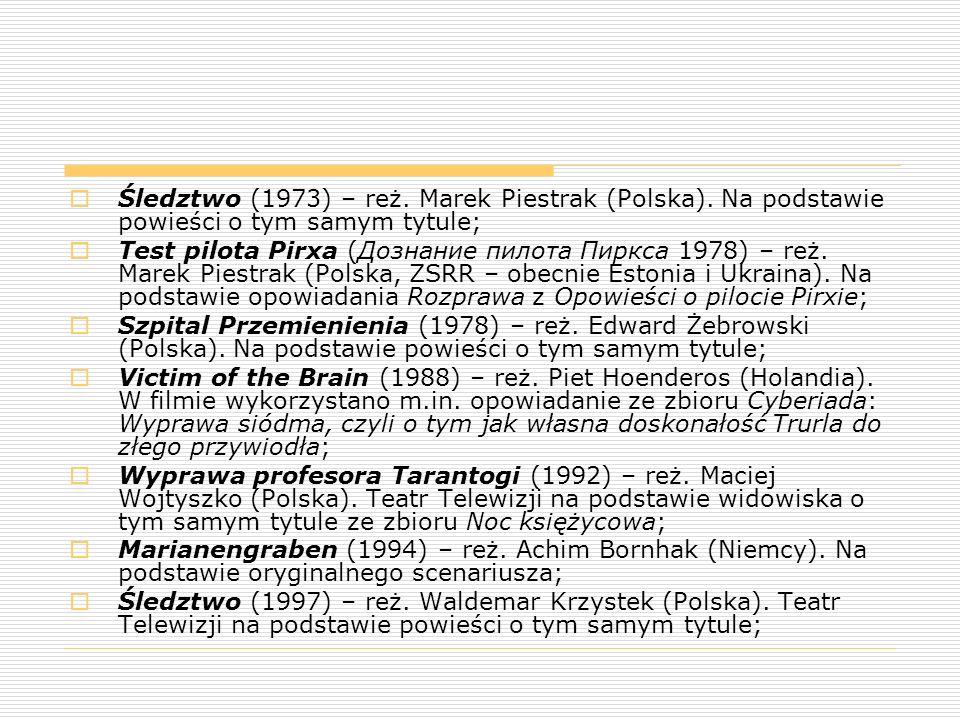 Śledztwo (1973) – reż. Marek Piestrak (Polska)
