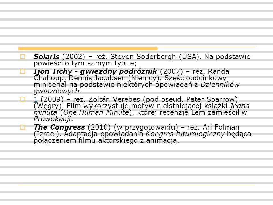 Solaris (2002) – reż. Steven Soderbergh (USA)