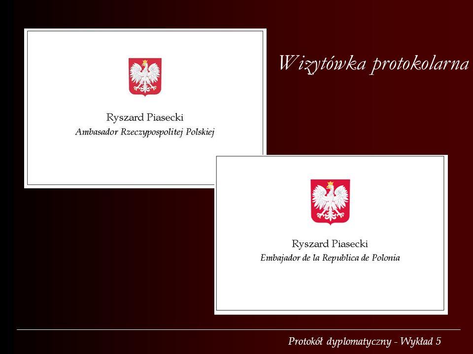 Wizytówka protokolarna