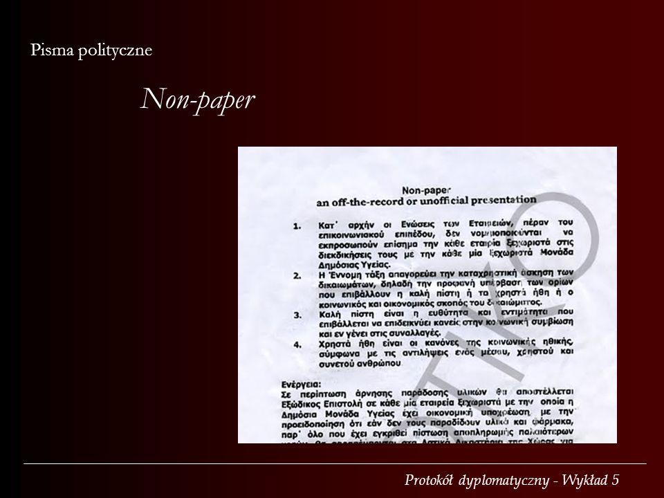 Non-paper Pisma polityczne
