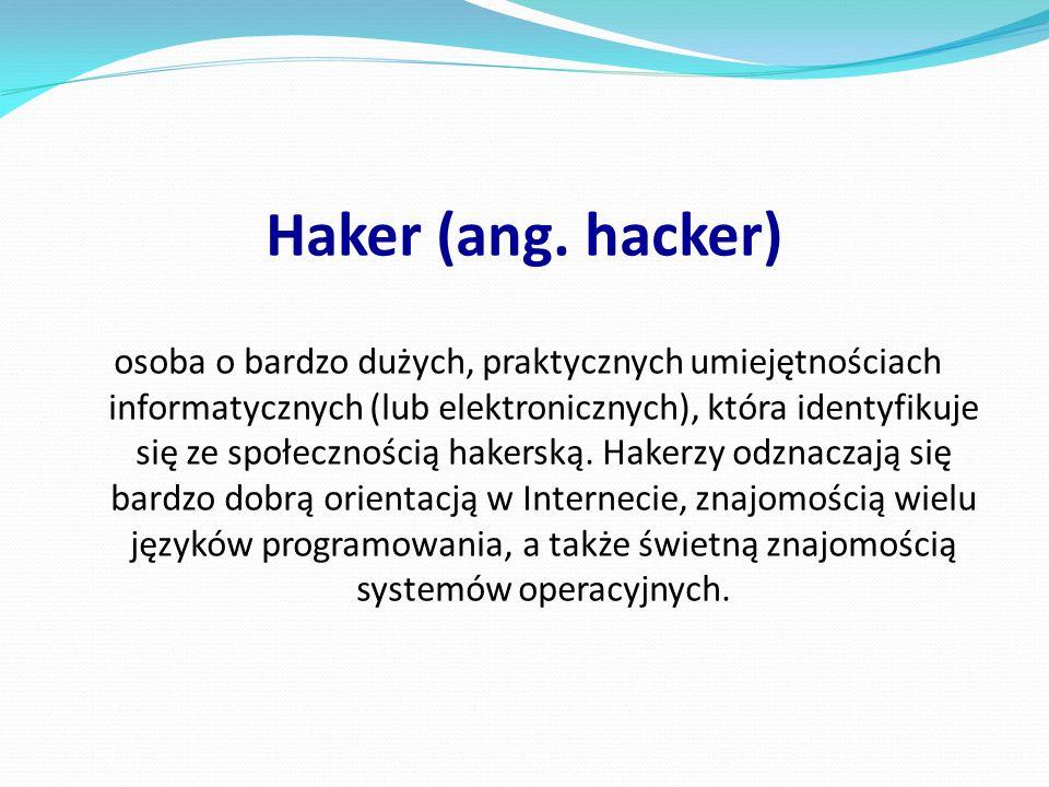 Haker (ang. hacker)
